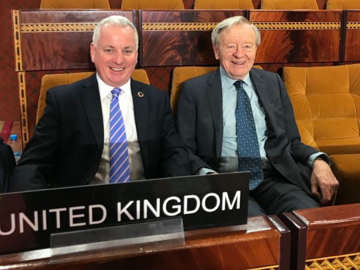 UK delegates to the Parliamentary Conference on Migration co-hosted by the Parliament of Morocco and the IPU
