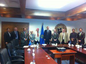 BGIPU delegation at the Central America Integration System HQs in San Salvador, El Salvador