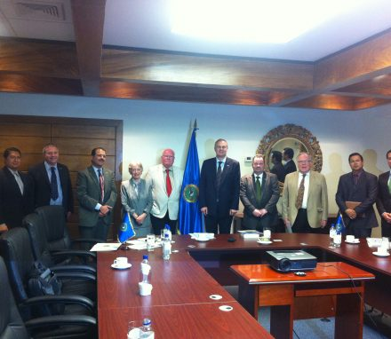 BGIPU delegation at the Central America Integration System HQs in San Salvador, El Salvador