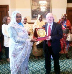 BGIPU Chair Rt Hon Alistair Burt MP welco0mes the Deputy Speaker Samia Ahmed Mohamed