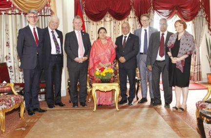 BGIPU Delegation led by Chair, Nigel Evans MP, honoured to meet the Presdient of Nepal, the Rt Hon Bidhya Devi Bhandari