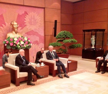 Delegation Leader and APPG for Vietnam Chair, Wayne David MP, meets the Vice-President of the National Assembly in Hanoi.JPG