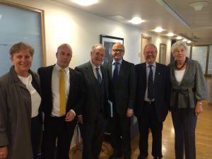 UK Delegation with Minister for EEA and EU Affairs, Vidar Helgesen