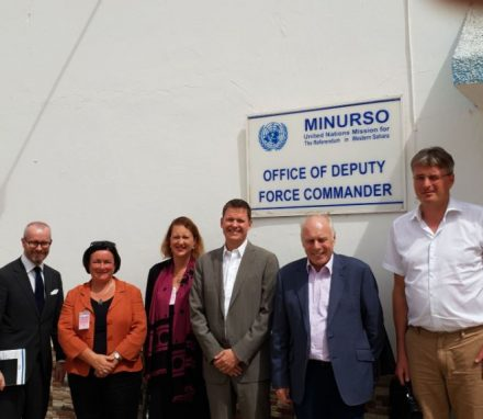 The Morocco APPG delegation also visited Tindouf to review the UN's MINURSO operation in Werstern Sahara.JPG