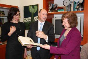 Ann McKechin MP with the Mayor of Rovinj, Mr Giovanni Sponza