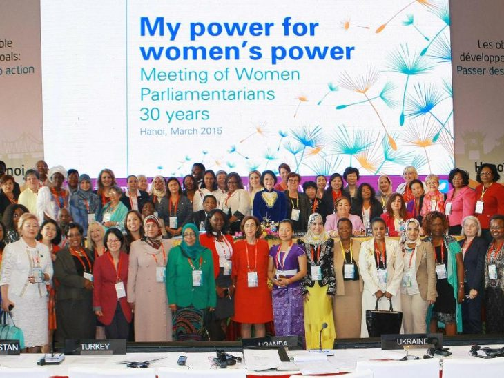 IPU 132 delegates celebrate the 30th anniversary of the Meeting of Women Parliamentarians