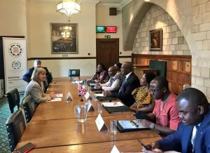 Delegation from the House of Representatives of Liberia meet the FCO/DFID Minister for Africa, Harriett Baldwin MP