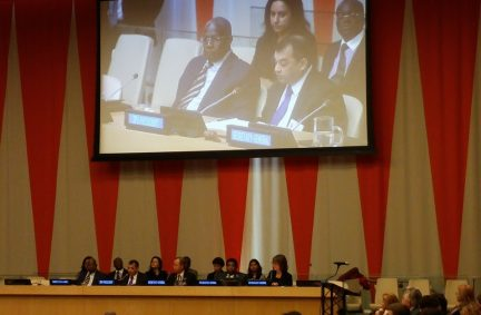 IPU President Chowdhury delivers his opening statement