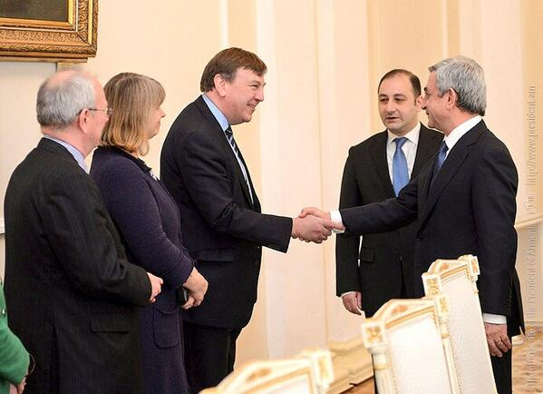 Meeting with the President of Armenia, HE Serzh Sargsyan