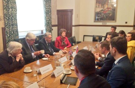 Delegation from Slovakia meet with members of the House of Lords International Relations Committee, chaired by Lord Howell
