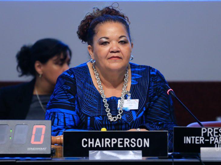 The President of the IPU's Bureau of Women Parliamentarains is Speaker Margaret Mensah-Williams of Namibia