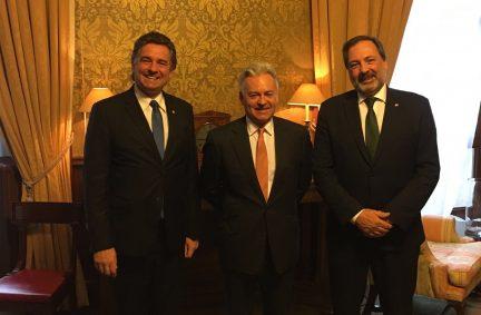 FCO Minister Sir Alan Duncan hosting Speaker Amarilla and Mr Gandini MP