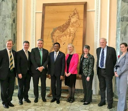 UK delegation meets the President of Madagascar, His Excellency Rajaonarimampianina Rakotoarimanana.JPG