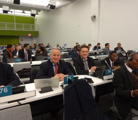 The BGIPU sent two delegates to the Annual UN Parliamentary Assembly on Peacebuilding at UN Headquarters in New York , Craig Whittaker MP and Lord McConnell.