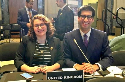 The UK was represented at the 4th IPU Conference of Young Parliamentarians by Danielle Rowley MP and Ranil Jayawardena MP