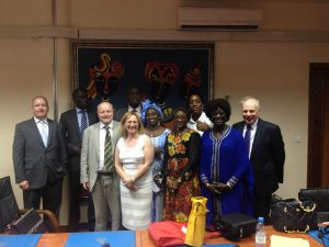 Delegation with representatives from the Health Ministry