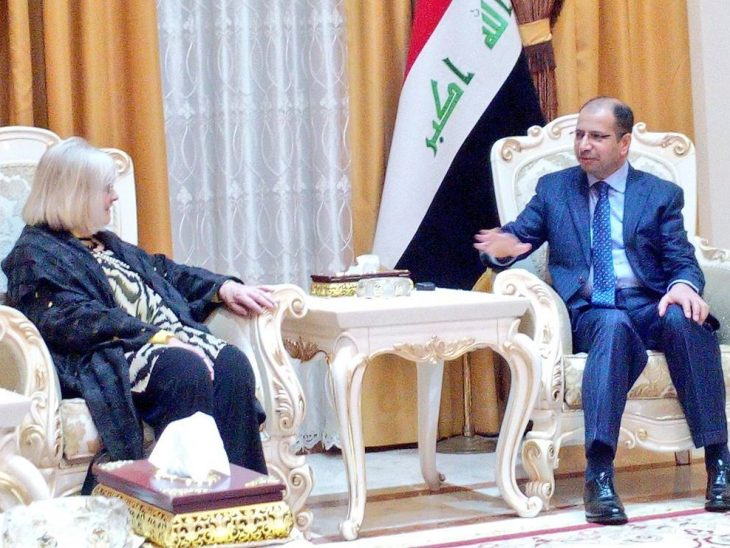 UK delegation leader, Rt Hon Ann Clwyd MP, meets the Speaker of the Council of Representatives of Iraq, Dr Salim al-Jabouri