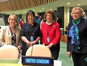 Some of the UK delegates to the Commission on the Status of Women, Baroness Watkins, Pauline Latham MP, Baroness Anelay and Baroness Hodgson