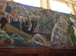 Guatemala Parliament Mural circa 1940