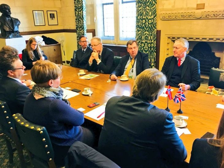 Delegation from Norway meets Chair and members of the House of Commons Exiting the EU Committee