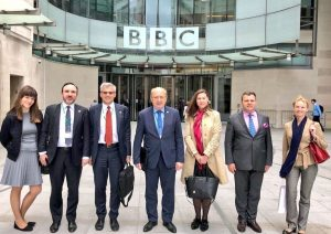Lithuania delegation visit BBC Headquarters in London