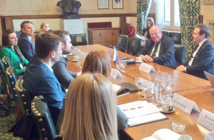 Visiting Parliamentary Delegation from Slovakia meet with the Chair of the Foreign Affairs Committee, Tom Tugendhat MP and member, Mike Gapes MP