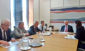 The delegation met the Chair of the Exiting the EU Committee, the Rt Hon Hilary Benn MP