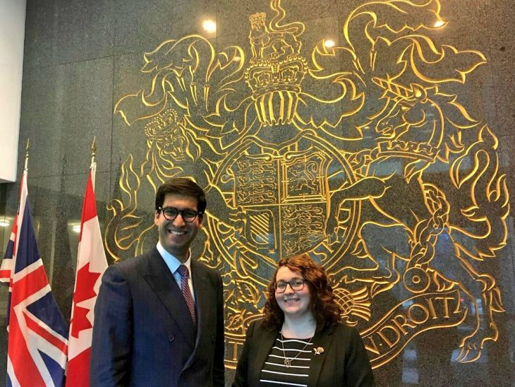 Ranil Jayawardena MP and Danielle Rowley MP call on the UK High Commission in Ottawa