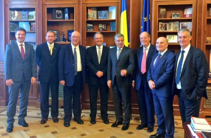 UK Delegation with President of the Chamber of Deputies