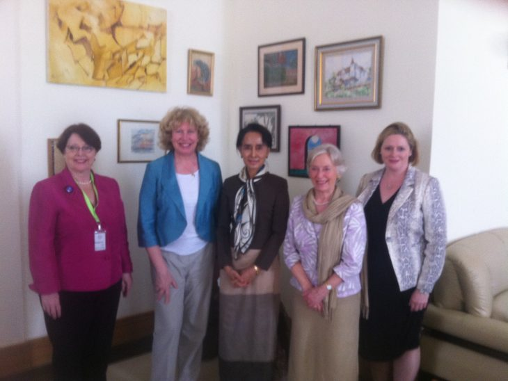 Delegation with Aung San Suu Kyi