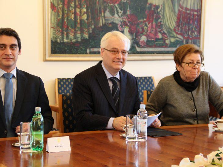 President of Croatia, Ivo Josipovic during the meeting with BGIPU Delegates