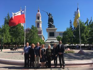 Delegation with Issa Kort MP in Rancagua