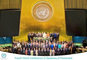 The Fourth World Conference of Speakers of Parliament was a significant highlight of 2015