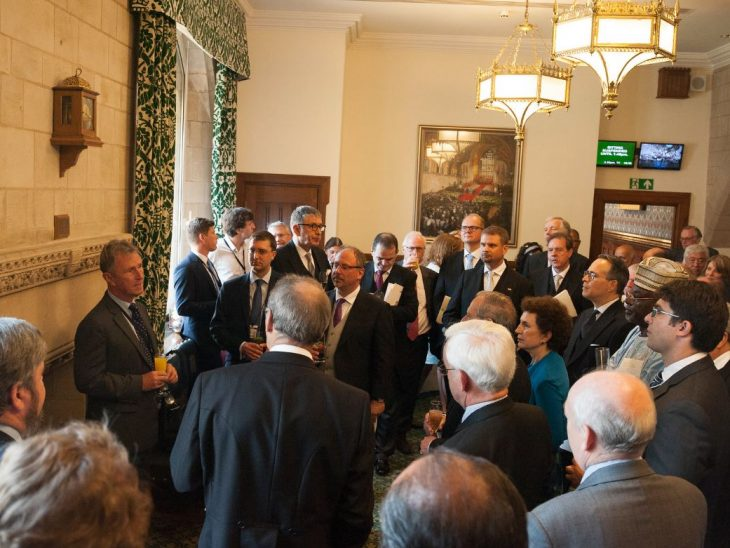 BGIPU Chair, Nigel Evans MP, addresses members of the diplomatic corps at State Opening event
