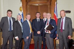 UK delegation led by BGIPU Chair Nigel Evans MP and Deputy Speaker Rt Hon Lindsay Hoyle MP meet Uruguay Speaker Amarilla