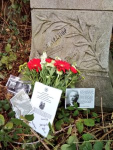BGIPU left flowers and messages of tribute as well as some key quotes from Cremer's life.