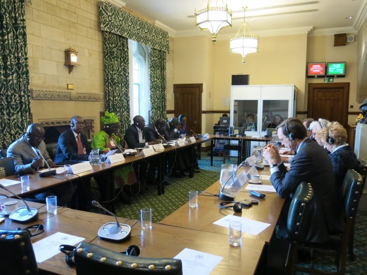 The delegation and UK Parliamentarians engaged in Roundtable discussions