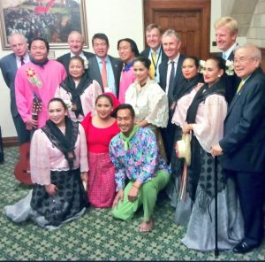 BGIPU Executive Committee members join the President of the Philippines Senate to celebrate Filipino culture