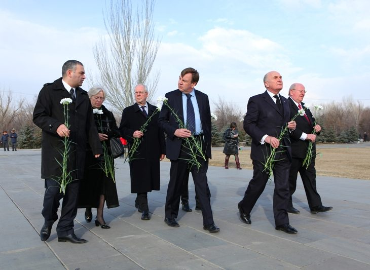BGIPU Delegation pays respects at Genocide Memorial during visit to Armenia