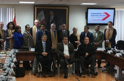The UK Delegation attends a session of the Social Inclusion and Disabilities Permanent Commission