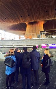 Delegation from Mongolia visit the Welsh National Assembly in Cardiff