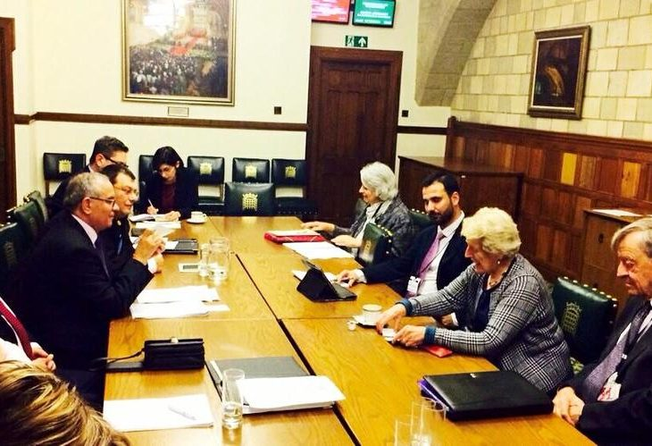 Members of the Romanian Delegation discuss the UK's Modern Slavery Bill with UK Counterparts
