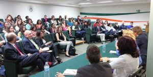 The UK delegation met with university students who expressed concern at the levels of impunity in Mexico