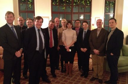 Dinner with young parliamentarians hosted by HE Simon Smith