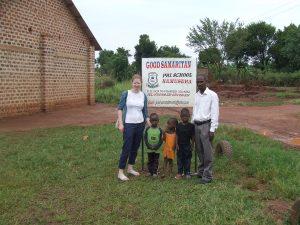 BGIPU staff with Godfrey and the children at the Good Samaritan School