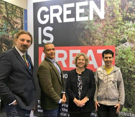 UK MPs, Chris Law, Clive Lewis, Alex Sobell and baroness Northover attend parliamentary meetings held in association with COP 23 in Bonn.JPG