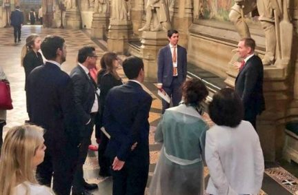 The Italian delegation have a tour of Parliament with Chris Bryant MP