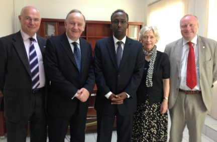 UK Delegation Members with the Minister of Education of Djibouti