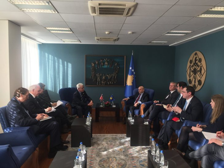 UK delegation have talks with the Prime Minister of Kosovo, Mr Isa Mustafa