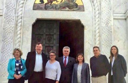 UK Delegation visit Mausoleum of the Serbian Royal family in Topola